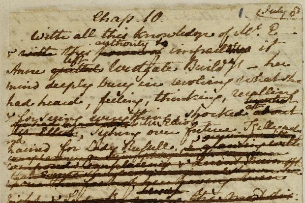 Jane Austen Manuscript Chapter 10